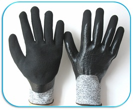 Cut Resistant Gloves Supported Gloves Nitrile Double